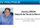 Le CODIUM reçu par David LORION, Député de l'île de la Réunion