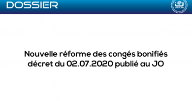 Réforme des congés bonifiés publiée au JO 02/07/2020